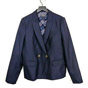 NEW J.Crew Navy Dover 100% Wool Blazer Jacket